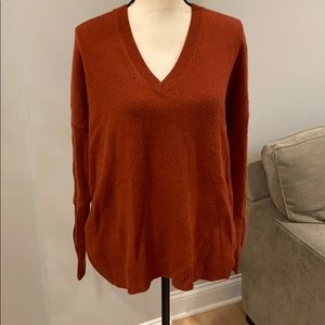 J Crew Deep V-neck sweater